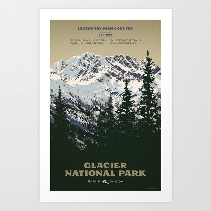Glacier National Park Kunstdrucke