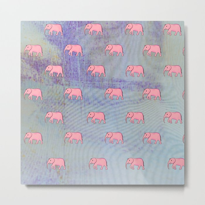 elephants on an abstract background Metal Print
