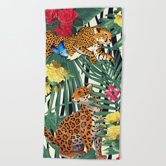 tropical wild  Beach Towel