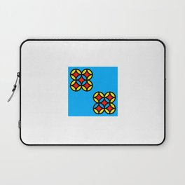 Colored Circles on Light Blue Board Laptop Sleeve