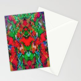 Red colour reaction Stationery Cards