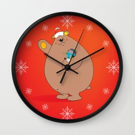 We wish you a Merry Christmas II Wall Clock