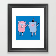 Pawty Time Framed Art Print