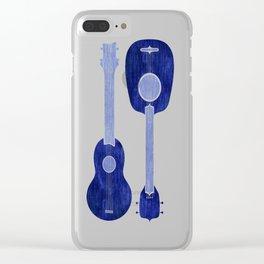 Indigo Blue Ukuleles Clear iPhone Case
