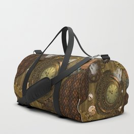Awesome steampunk design Duffle Bag