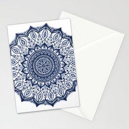 Mistletoe-Navy Stationery Cards