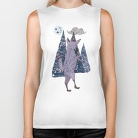 coyote Biker Tanks featuring COYOTE by Kevin Whipple
