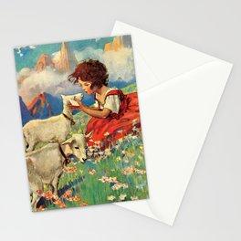Jessie Willcox Smith - Heidi, Girl Of The Alps - Digital Remastered Edition Stationery Cards