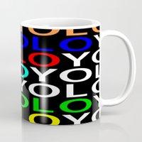 yolo Mugs featuring YOLO by Jeremy Crabtree