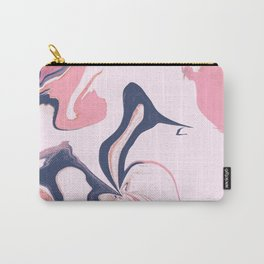 Abstract- Pink and Blue Carry-All Pouch
