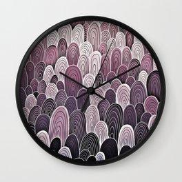 Purple Mermaid Scales Wall Clock