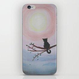 Watching a Hopeful Sunset iPhone Skin
