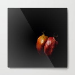 Autumn Pomegranate Metal Print