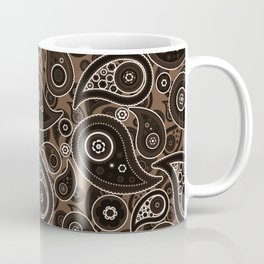 Coffee Brown Paisley Pattern Coffee Mug