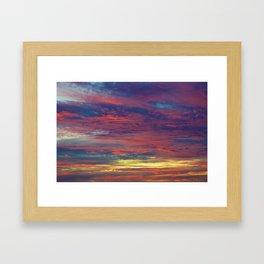 Cotton Candy coloured sky Framed Art Print