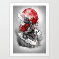 dragon Art Prints featuring Dragon by Marine Loup