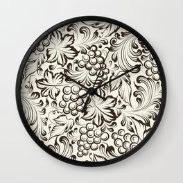 Vine seamless background Wall Clock