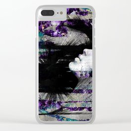Abstract Art Composition Female face Clear iPhone Case