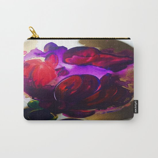 Purple and Gold Poppies Maybe? Carry-All Pouch