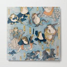 The Samurais Toads Metal Print