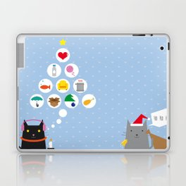 Santa Cat Laptop & iPad Skin