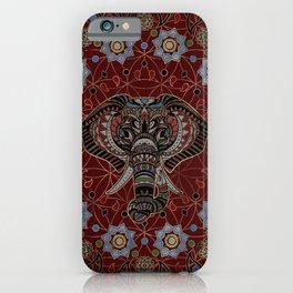 Indian Elephant in Mandala Ornament iPhone Case