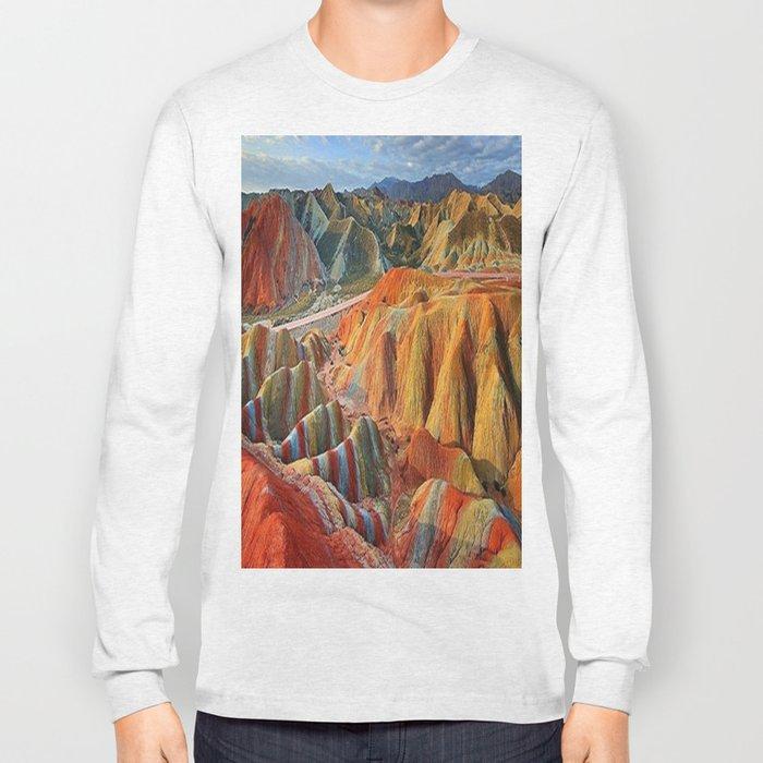 colours mountains Long Sleeve T-shirt
