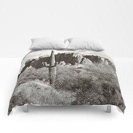 Saguaro in black and white Comforters