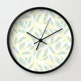 Wind and feathers Wall Clock