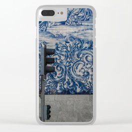 tiled wall in porto Clear iPhone Case