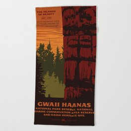 Gwaii Haanas National Park Reserve, National Marine Conservation Area Reserve & Haida Heritage Site Beach Towel