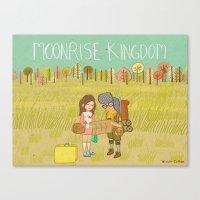 moonrise kingdom Canvas Prints featuring 'Moonrise Kingdom' by Nicola Colton illustration