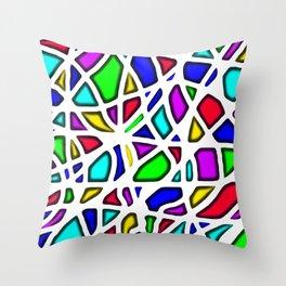 color face Throw Pillow