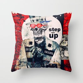 Step Right Up Throw Pillow