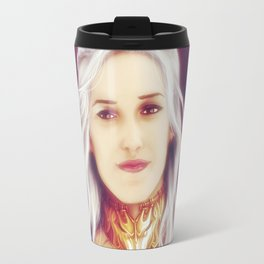 Fire and Blood (Silver Hair) Travel Mug