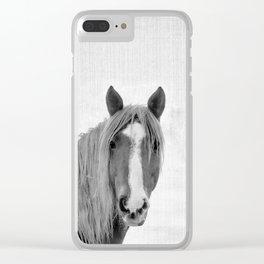 Horse Portrait Clear iPhone Case