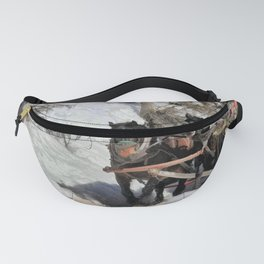 Horse Drawn Wintery Sleigh Ride Fanny Pack