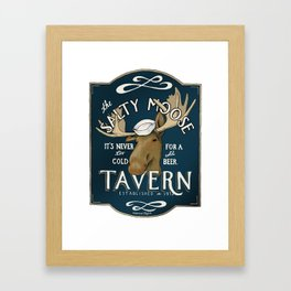 The Salty Moose Framed Art Print