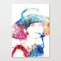 audrey hepburn Canvas Prints featuring Audrey Hepburn by Heaven7