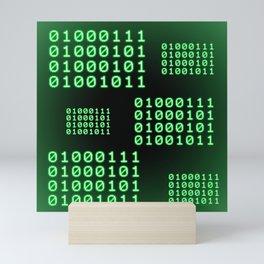 Binary code for GEEK Mini Art Print