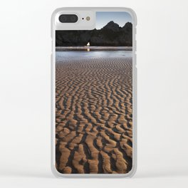 Three Cliffs Bay Gower Clear iPhone Case
