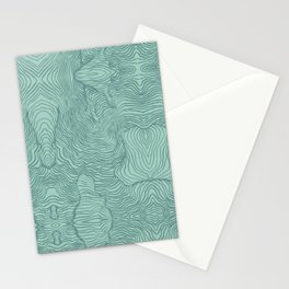 Perception in Mint Green Stationery Cards