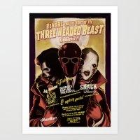 Night of the 3 Headed Beast - Gig Poster Art Print
