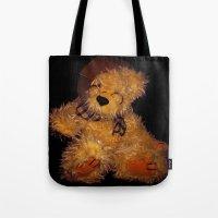 teddy bear Tote Bags featuring Teddy by Doug McRae