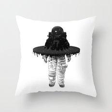 Through the Black Hole Throw Pillow