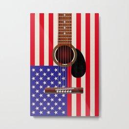 American Flag Guitar Metal Print