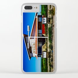 Abandoned Pit Stop Clear iPhone Case