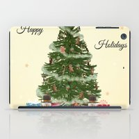christmas tree iPad Cases featuring Christmas Tree by haroulita