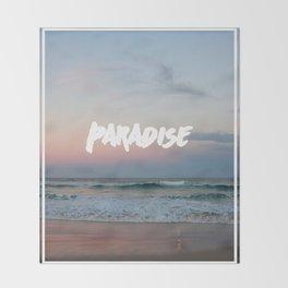 Paradise on the beach Throw Blanket