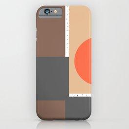 Gray and Orange iPhone Case